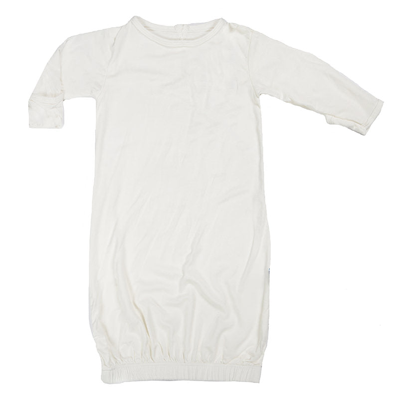 Kickee Pants Basic Layette Gown (Natural - Preemie)