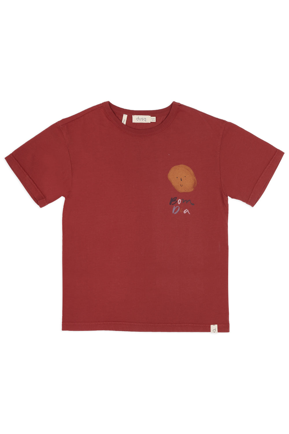 Dusq Cotton Jersey Tee - Clay Red