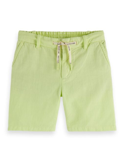 Scotch Shrunk Cotton Shorts with Drawstring - Lemonade