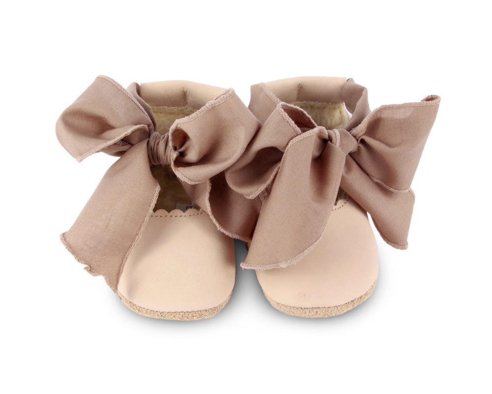 Donsje Lieve Lining Shoes - Powder Nubuck/Mocha Cotton