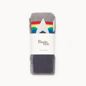 Bonnie Mob Molly Tights - Rainbow Star Grey