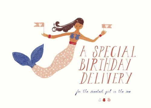 Mr. Boddington's Studio Birthday - Mermaid Birthday - Greeting Card
