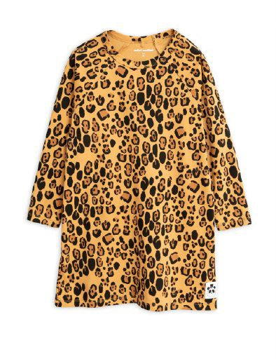 Mini Rodini Basic Leopard Dress - Beige