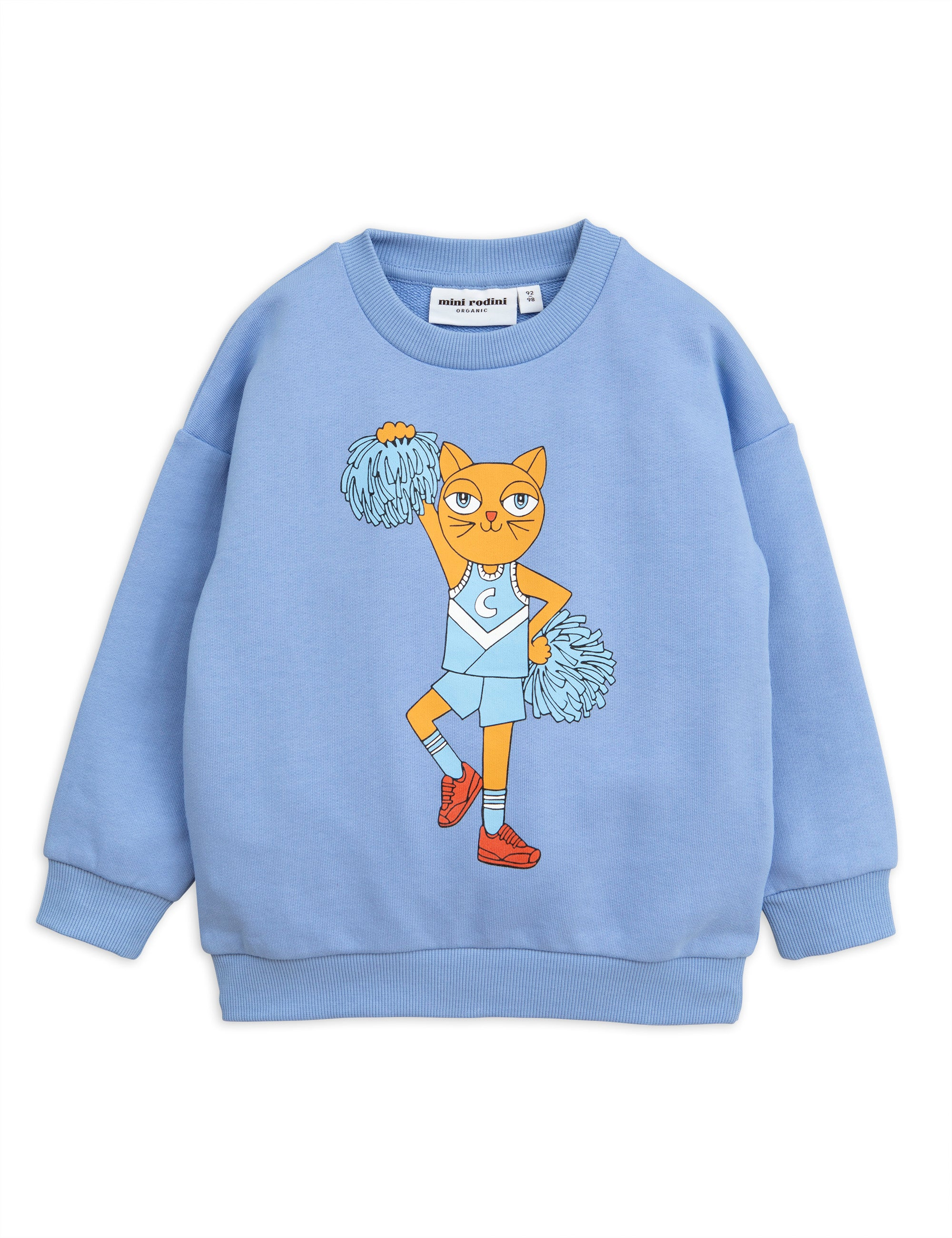 Mini Rodini Cheercat Sweatshirt - Blue