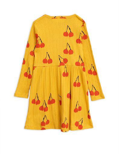 Mini Rodini Cherry Dress - Yellow