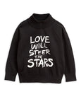 Mini Rodini Love Knitted Sweater - Black