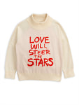 Mini Rodini Love Knitted Sweater - White