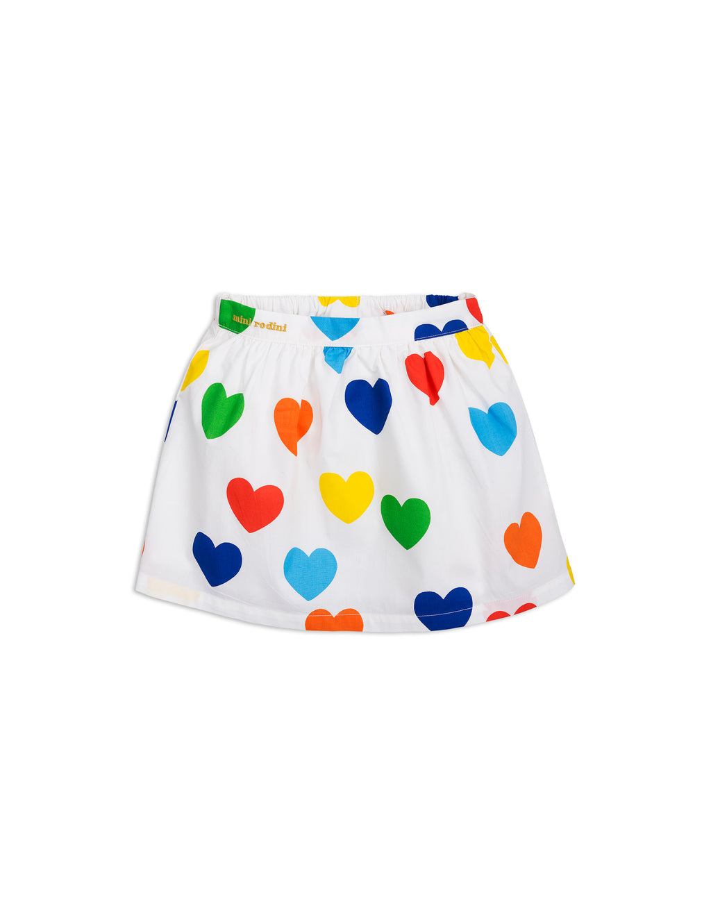 Mini Rodini Rainbow Love Woven Skirt