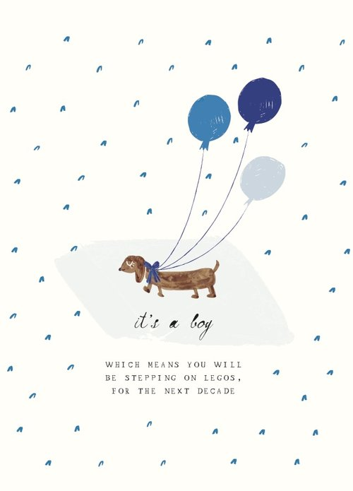Mr. Boddington's Studio Baby - One Precious Pup - Greeting Card