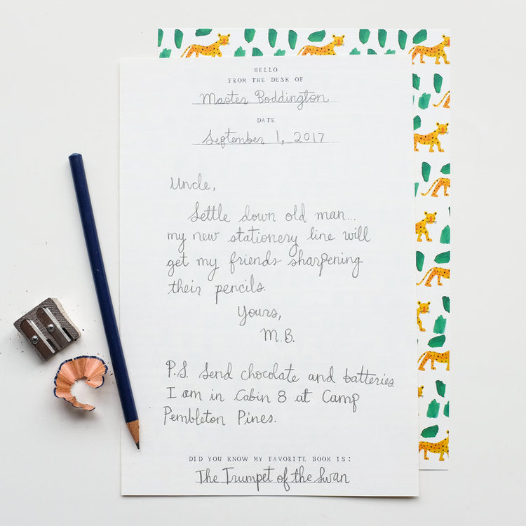Mr. Boddingtons's Letter Writing Set - Leopards