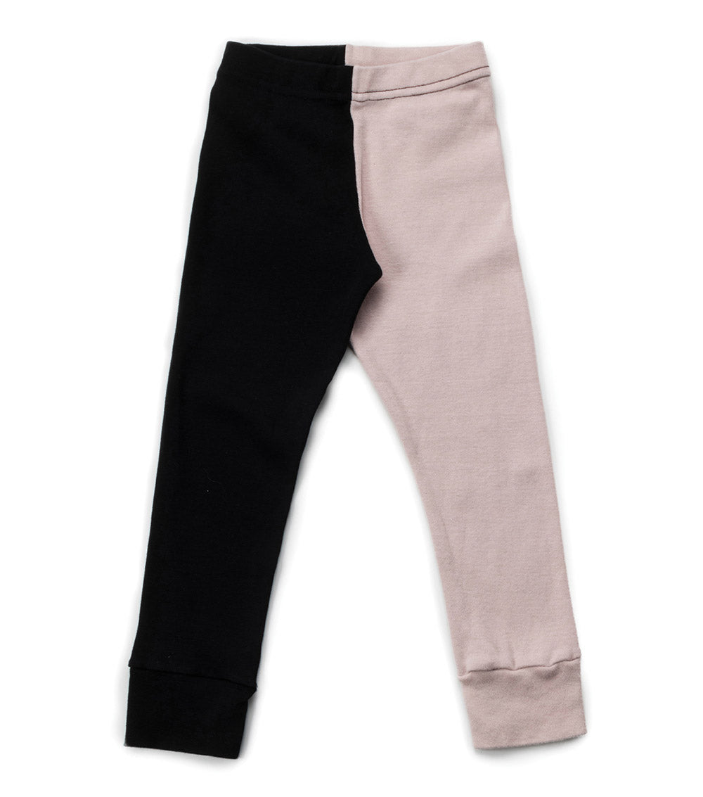 NUNUNU Leggings - Powder Pink & Black