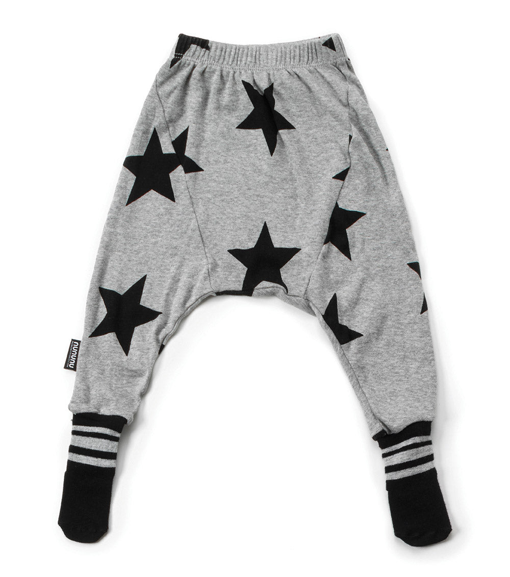 NUNUNU Star Footed Pants - Heather Grey