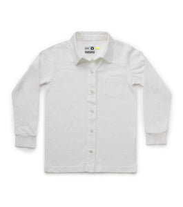 Nununu Button Front Shirt - White