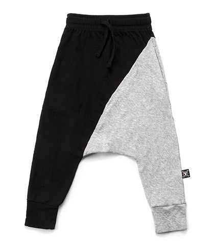 Nununu 1/2 & 1/2 Baggy Pants - Black/Heather Grey