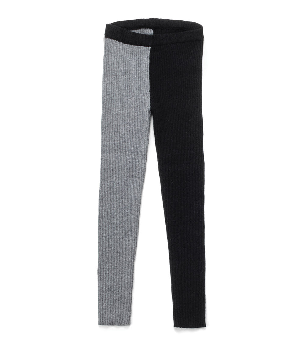 Nununu 1/2 & 1/2 Knit Leggings - Black/Heather