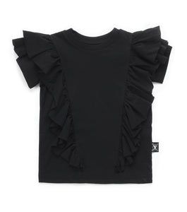 Nununu Ruffled T-shirt - Black