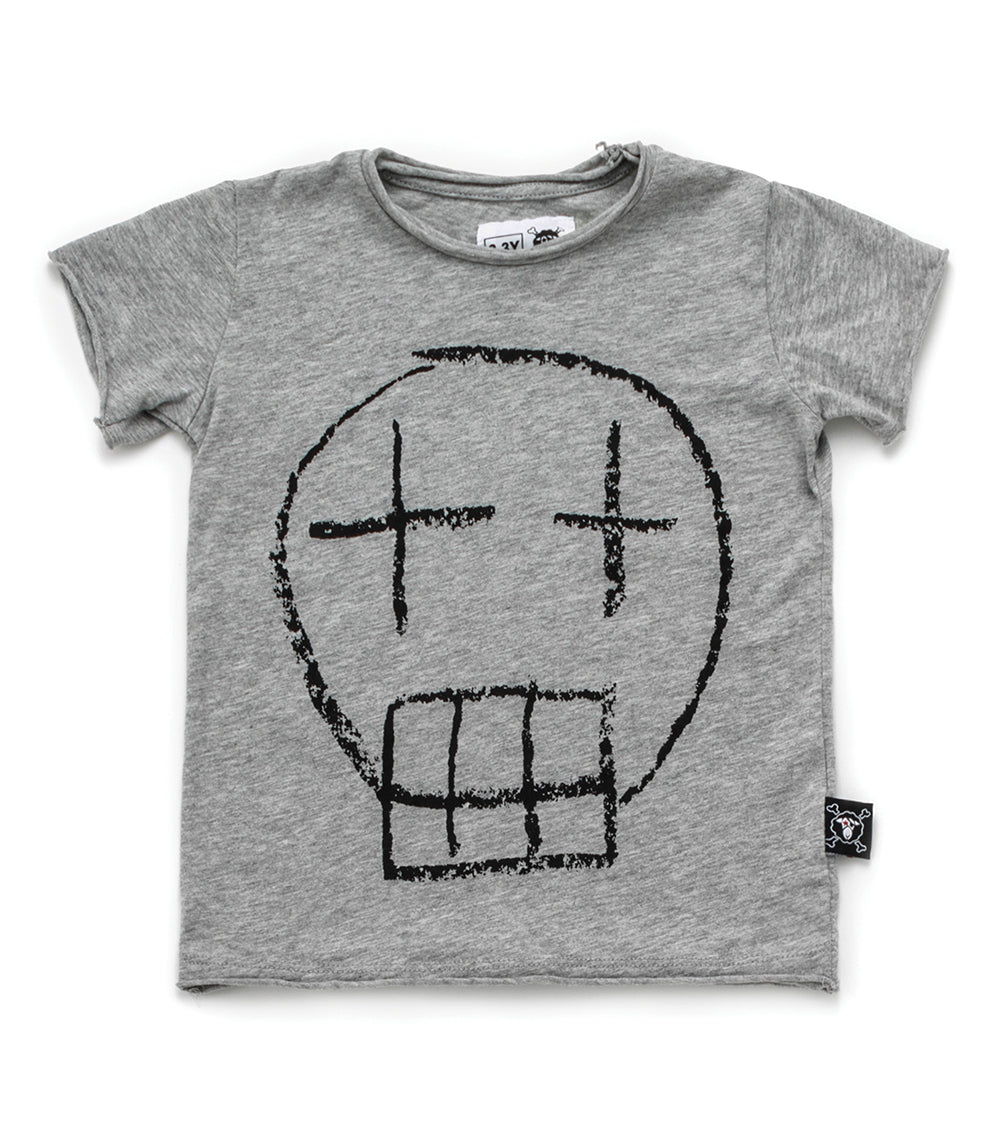 Nununu Sketch Skull T-shirt - Heather Grey