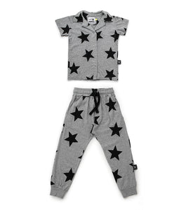 Nununu Star Snap Loungewear - Heather Grey
