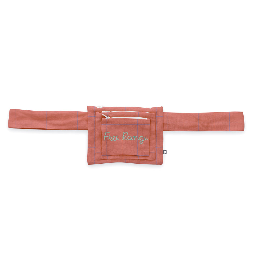 Oeuf Purse with Belt - Punch Pink