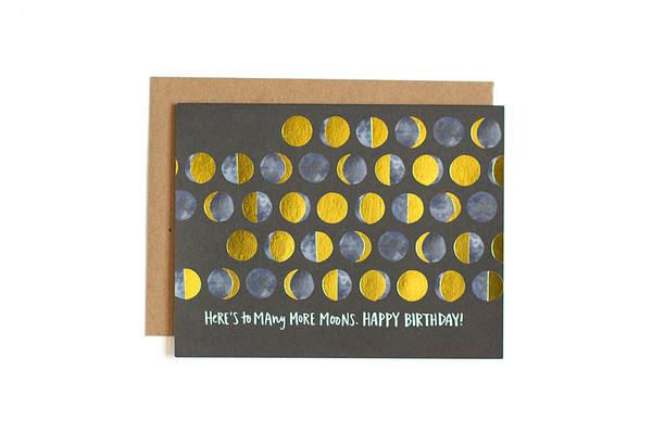 One Canoe Two - Many Moons Birthday Card