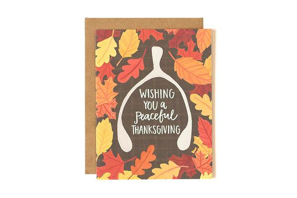 One Canoe Two Wishbone Thanksgiving Card