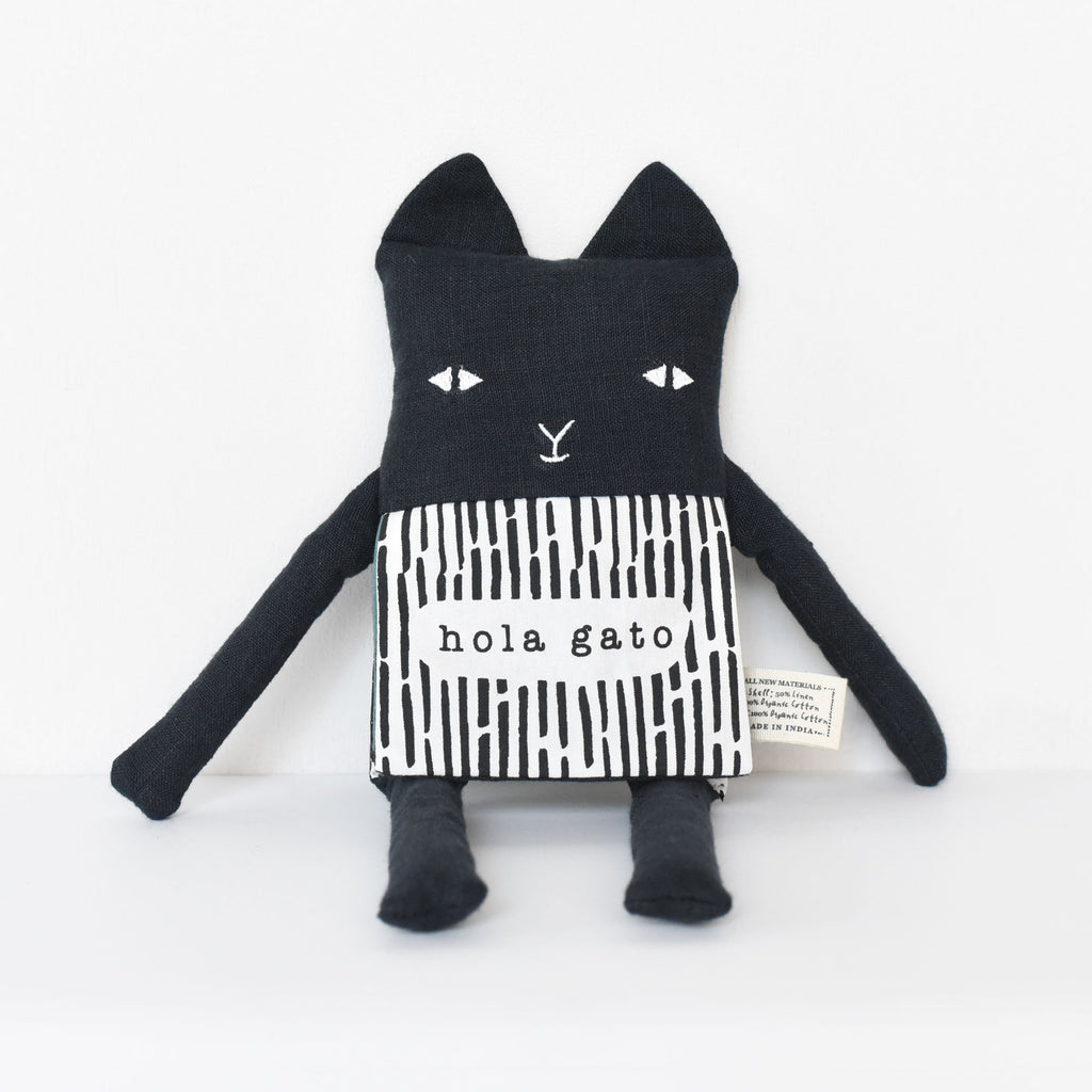Wee Gallery Organic Cat Flippy Friend - Spanish Edition