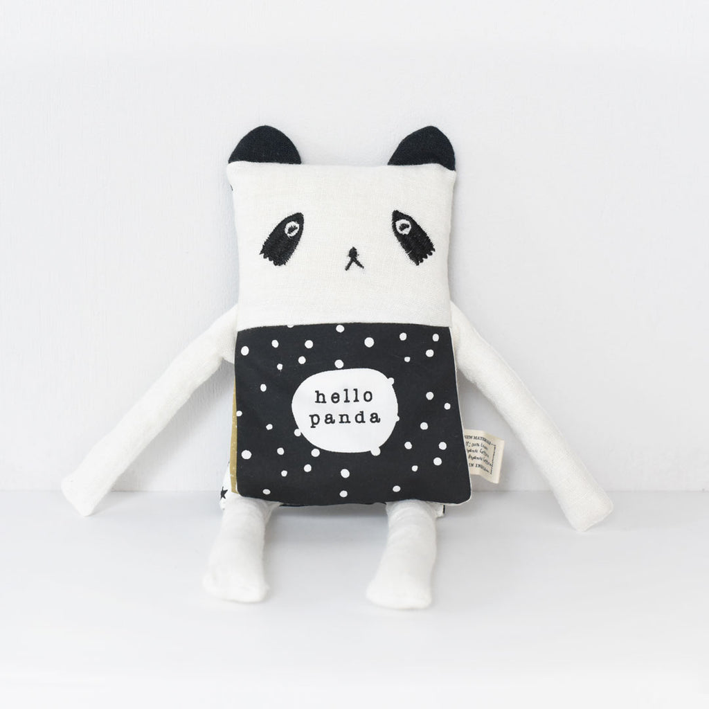 Wee Gallery Organic Panda Flippy Friend - English Edition