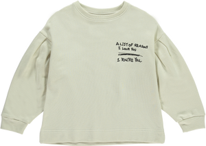 "Beau Loves ""List Of Reasons I Love You"" Sweatshirt"