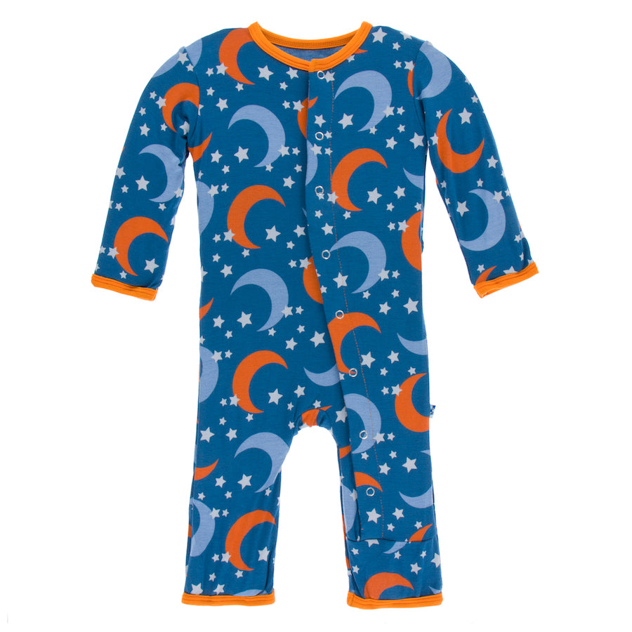 Kickee Pants Coverall Twilight Moon And Stars