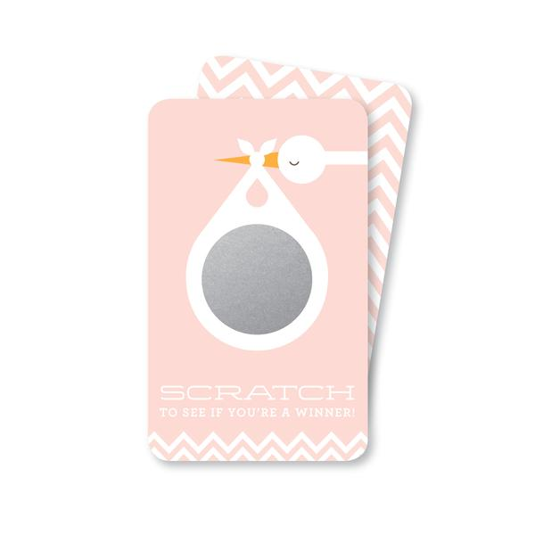 Inklings Pink Stork Scratch-off Game