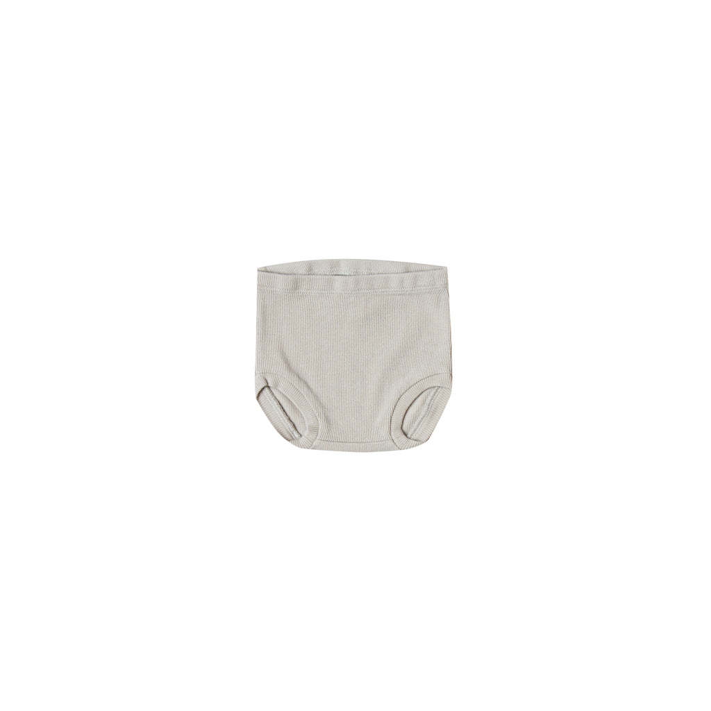 Quincy Mae Organic Ribbed Bloomer - Dove