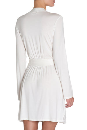 Eberjey Kinga Abstract Robe - Ivory