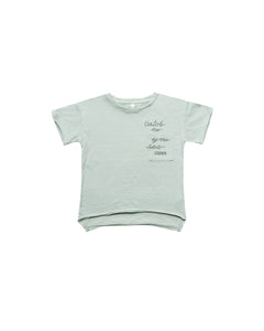 Rylee + Cru Catch Me Raw Edge Tee - Seafoam