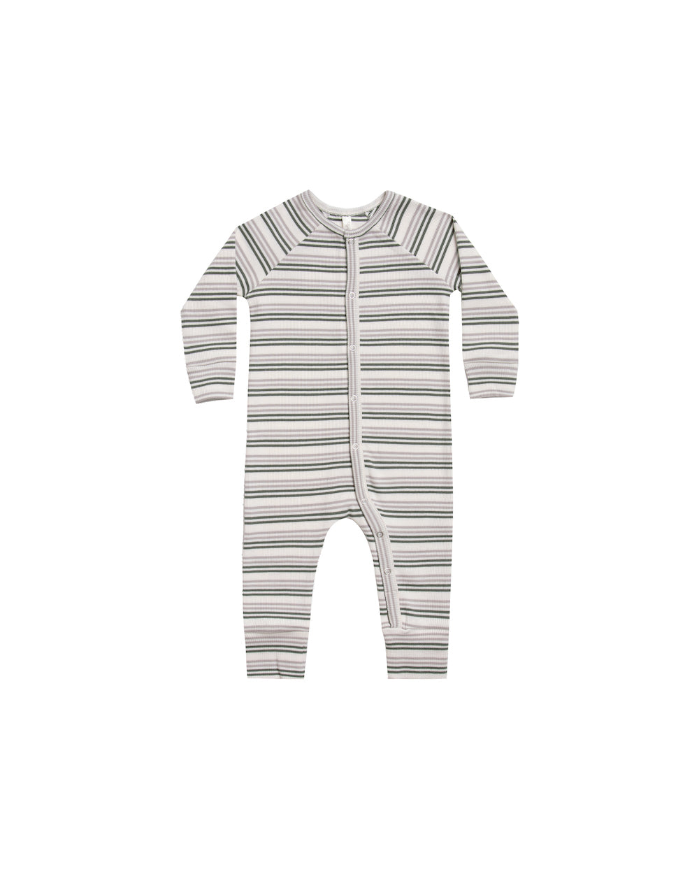 Rylee + Cru Striped Pajama Longjohn - Forest Warm Grey