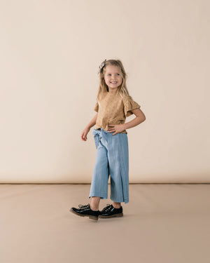 Rylee + Cru Wide Leg Pants - Washed Denim