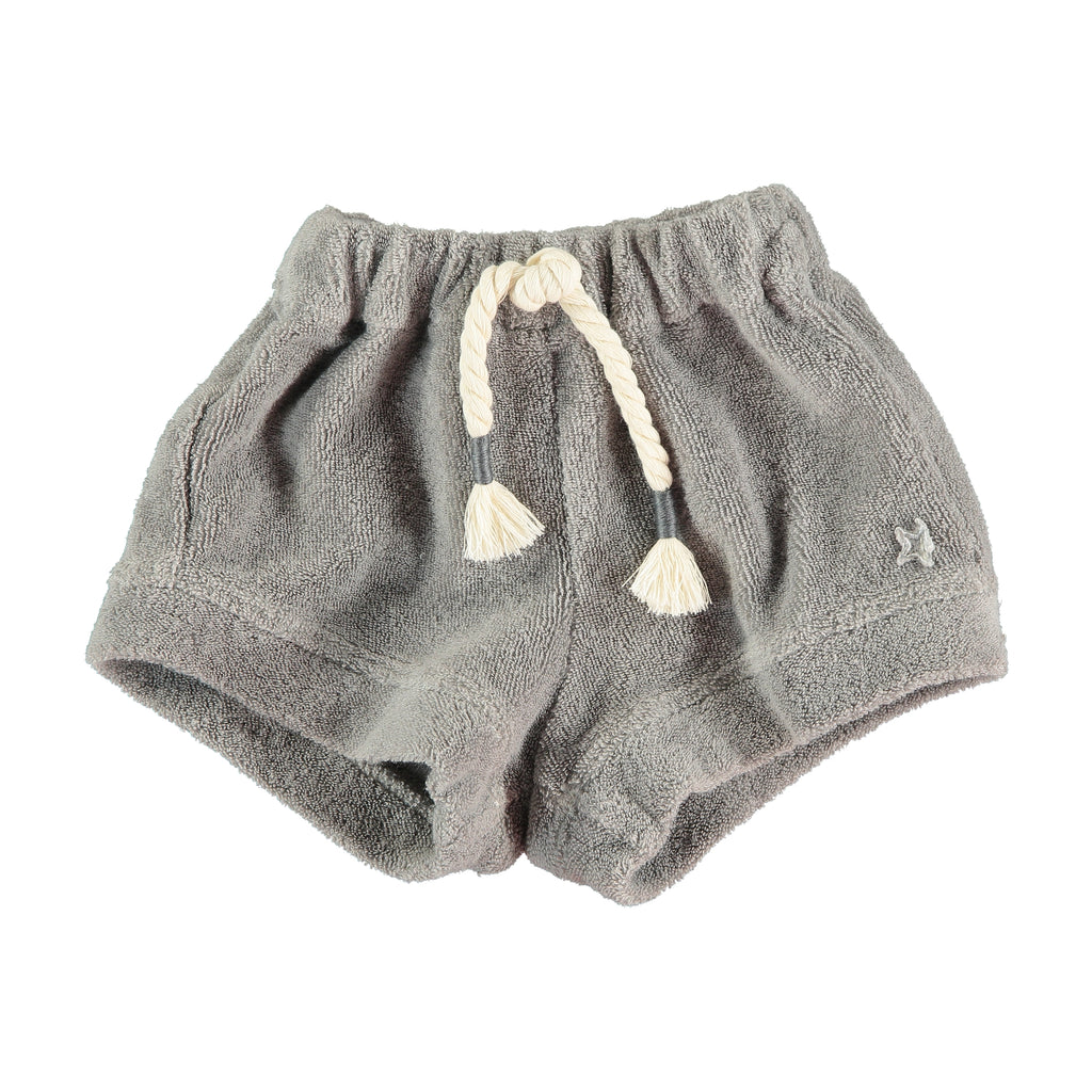 Tocoto Vintage Terry Baby Shorts - Gray