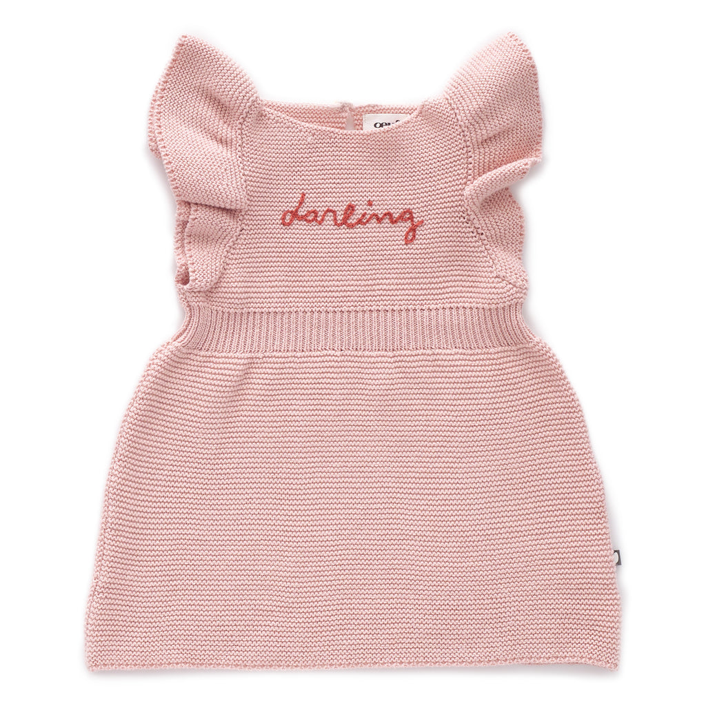 Oeuf Butterly Sleeve Dress - Light Pink
