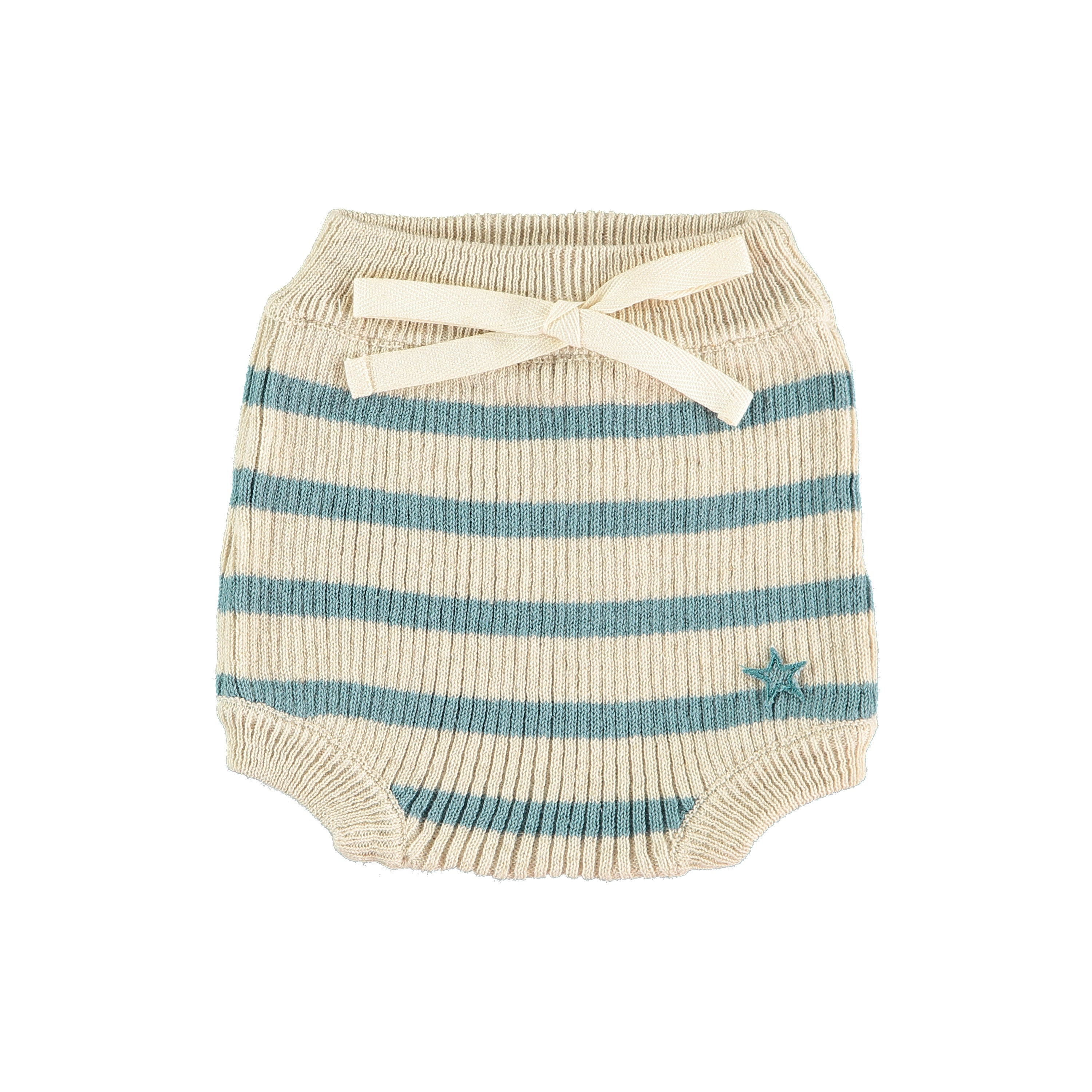 Tocoto Vintage Stripe Knit Bloomer - Green