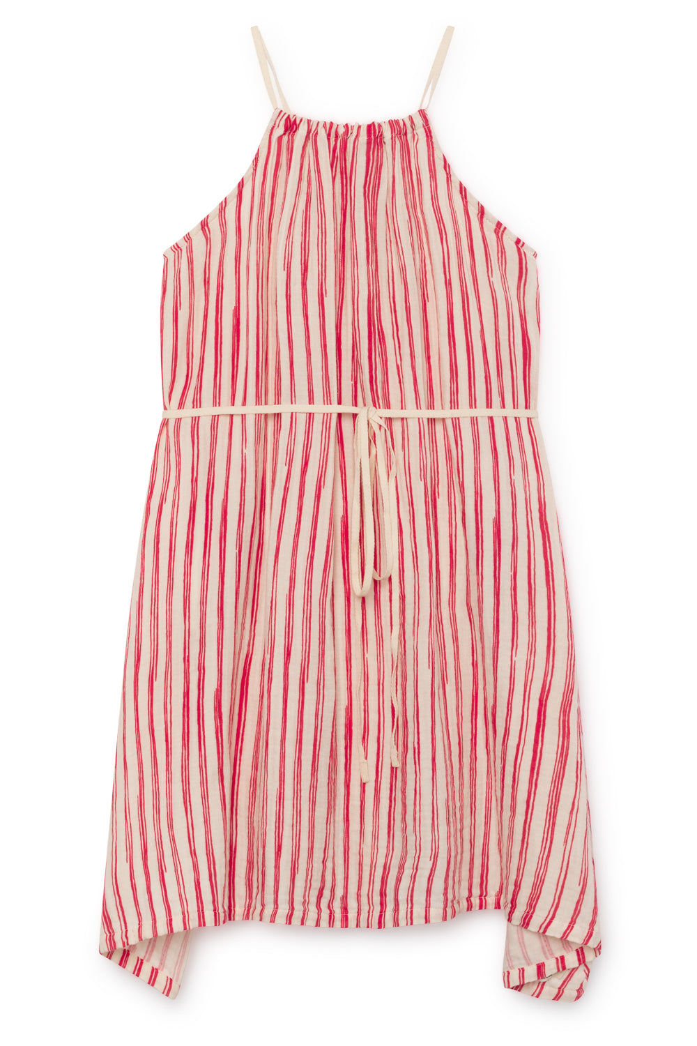 Little Creative Factory Apron Dress - Red Stripe