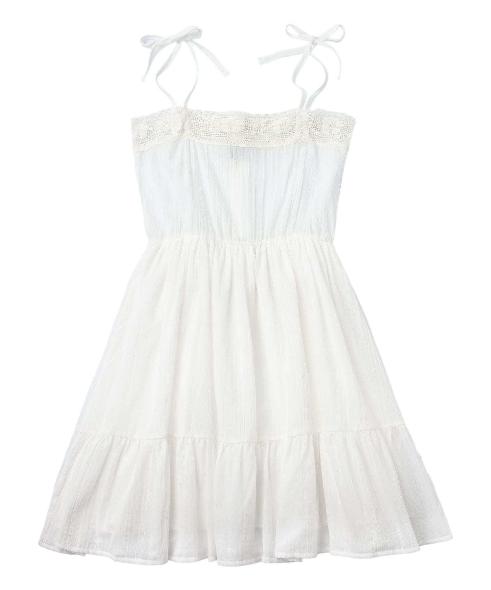 Tocoto Vintage Lace Dress - Off White