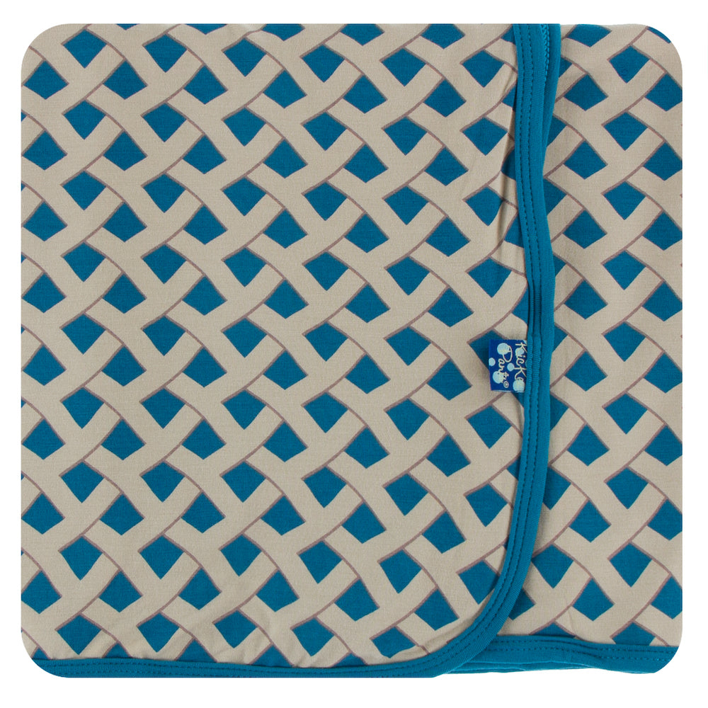 Kickee Pants Swaddling Blanket - Blueberry Pie