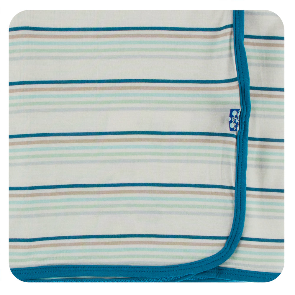 Kickee Pants Swaddling Blanket - Culinary Arts Stripe