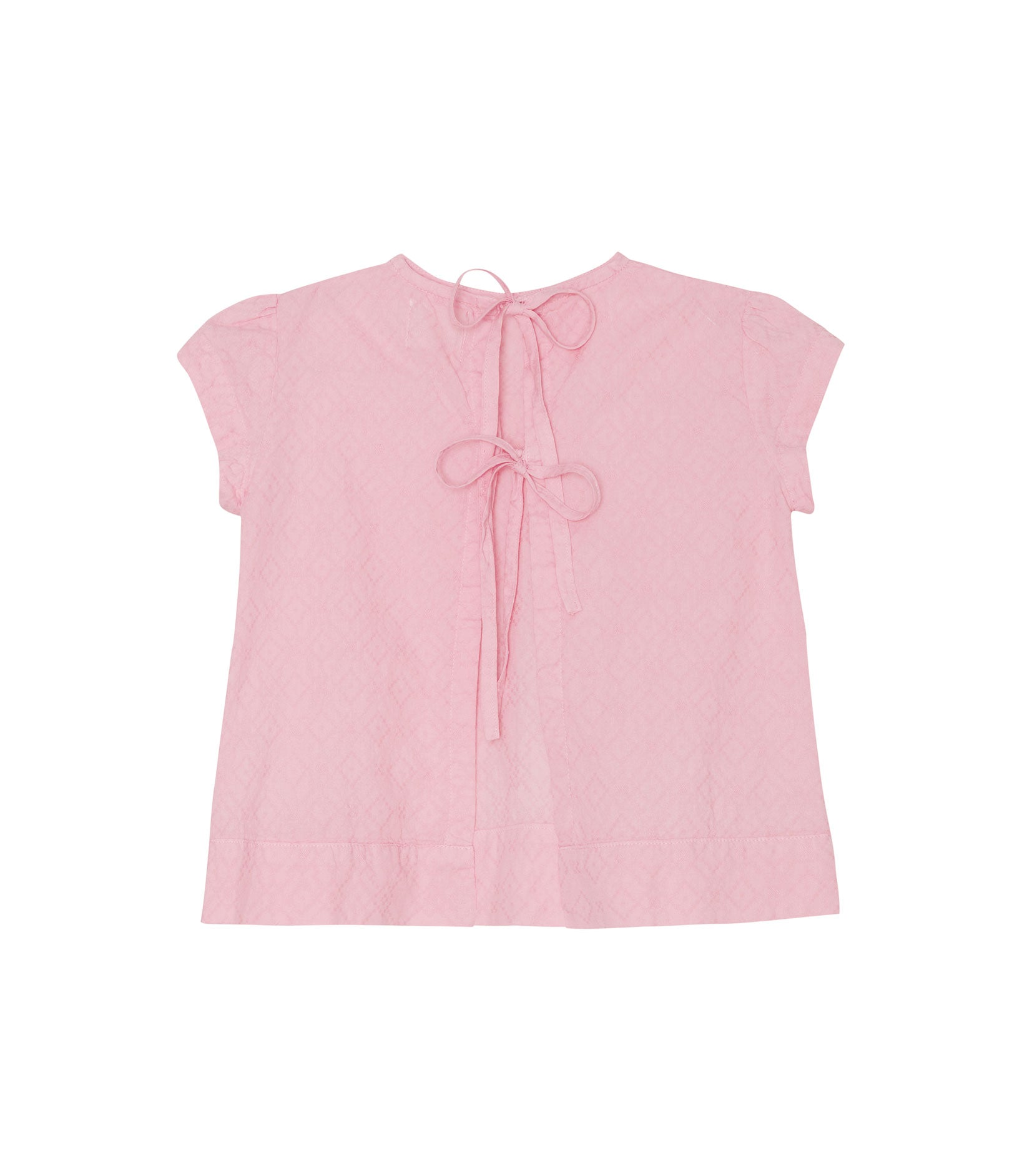 Yellow Pelota Ribbons Blouse - Pink