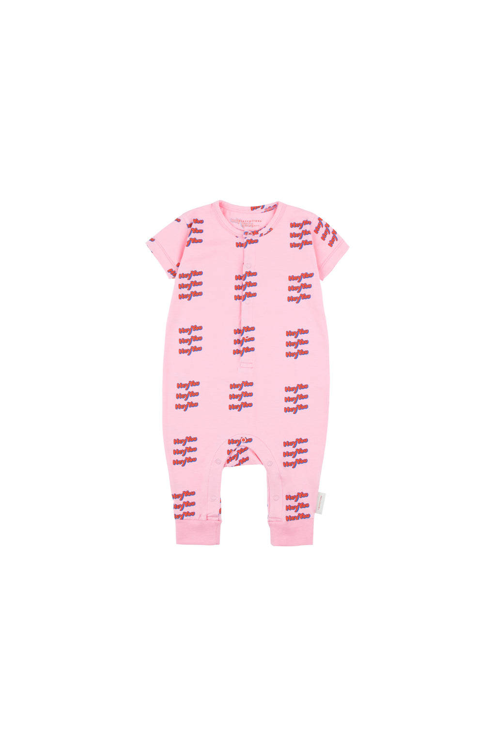 Tiny Cottons 'Hey You' One Piece - Pink/Red