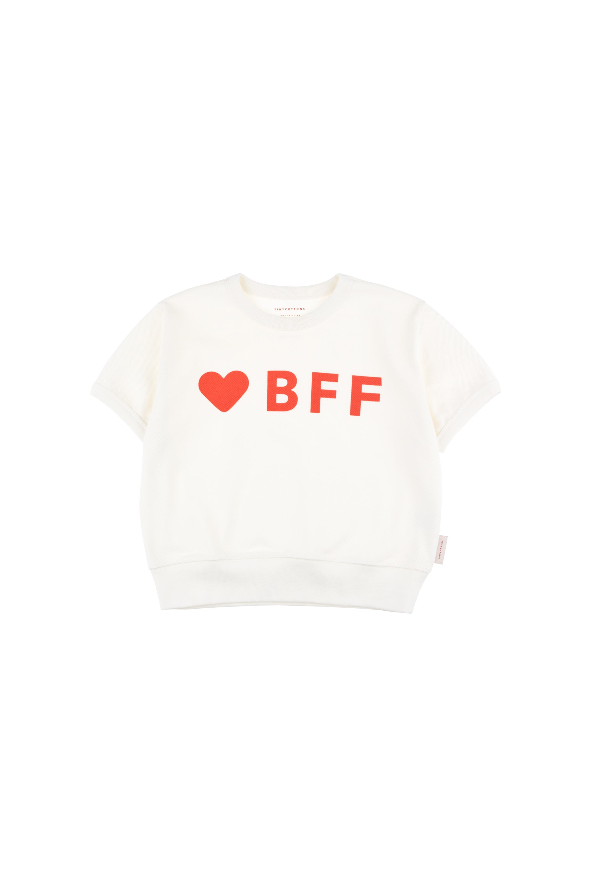 Tiny Cottons 'BFF' Sweatshirt - Light Red/Red