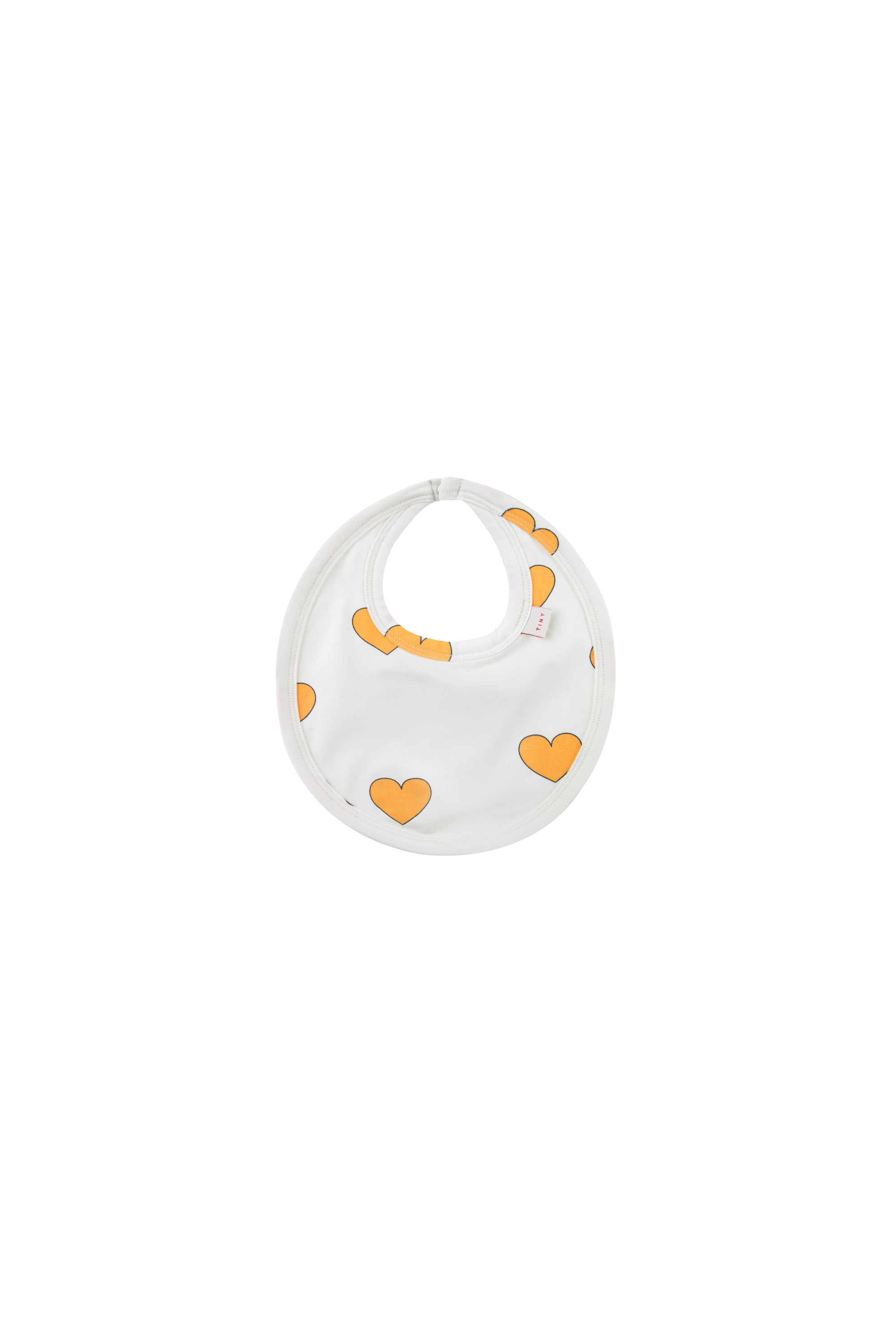 Tiny Cottons Hearts Bib Off White/Yellow