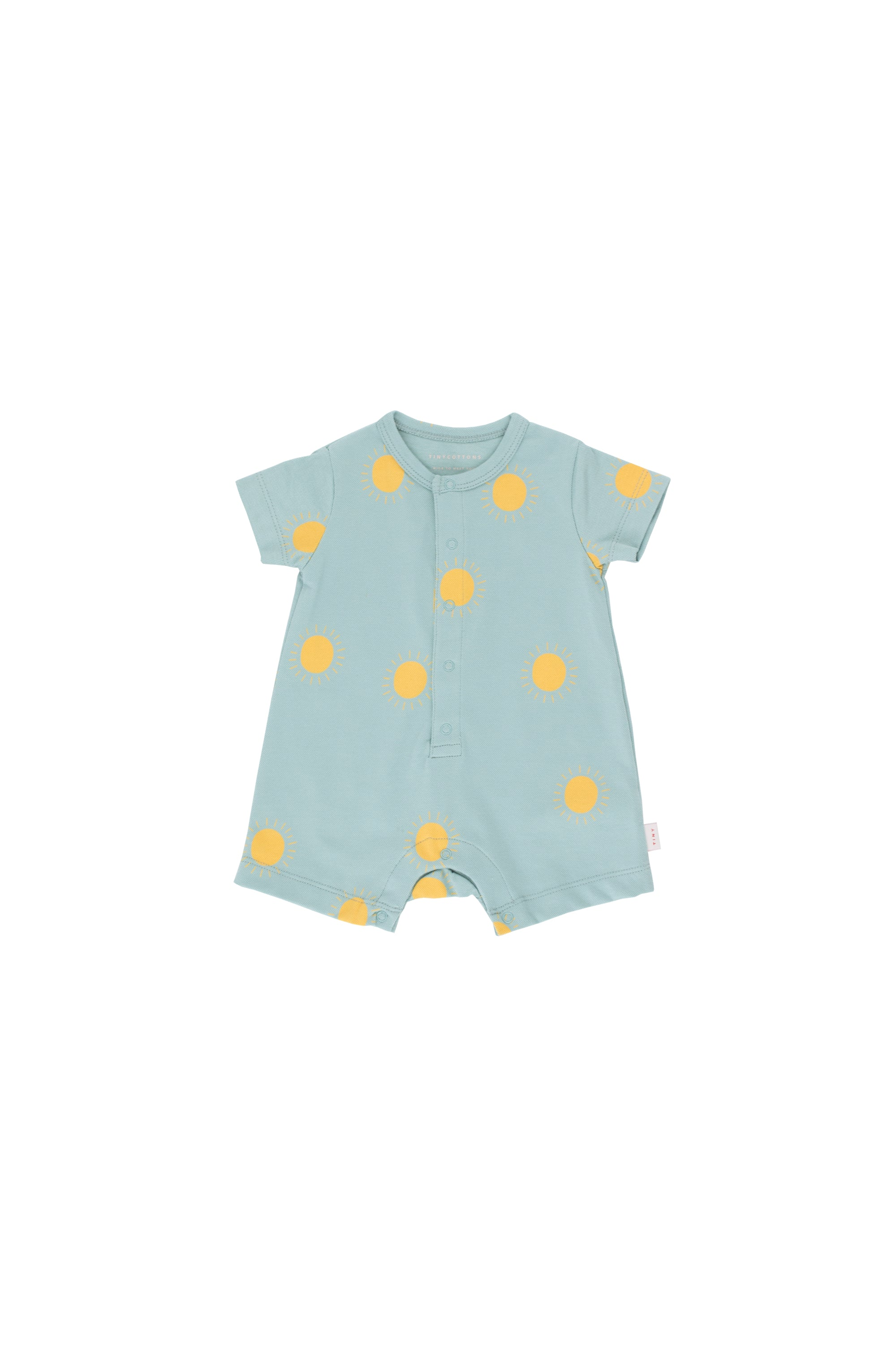 Tiny Cottons Sun One Piece - Sea Green/Yellow