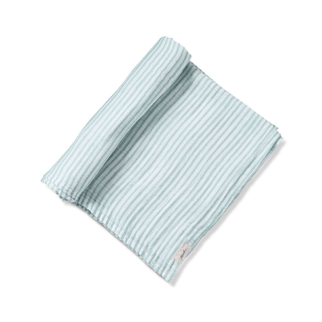 Petit Pehr Stripes Away Swaddle - Sea