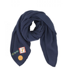 Dusq Cotton Muslin Swaddle Scarf - Sean Blue