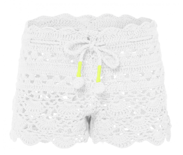 Sunuva White Crochet Short